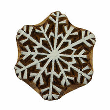 Wooden Brown Stamps Decorative Christmas Tree Textile Wood Printing Block 3028