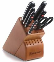 Wusthof Classic 8 Piece Deluxe Block Knife Set With Cherry Block 8408-2