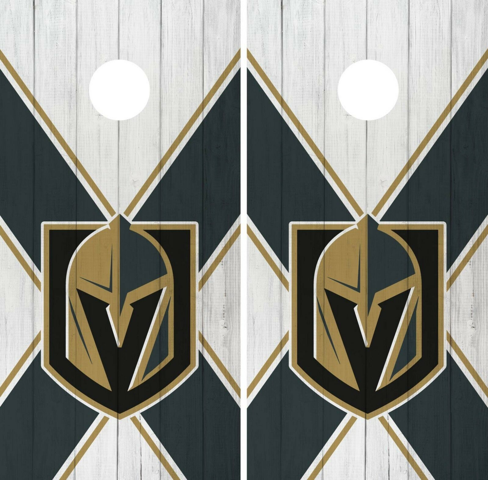 Vegas golden Knights Cornhole Wrap NHL Vintage Game Skin Set Vinyl Decal CO221