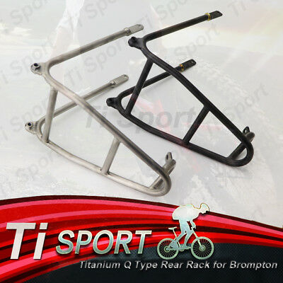 ACE 3.0 Aluminium Q Type Rear Rack for Brompton Bicycle 140g Mini Luggage Shelf