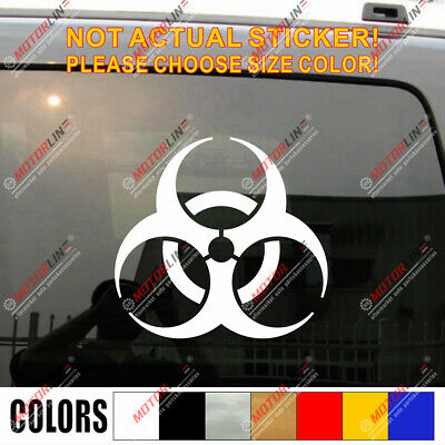 Biohazard warning sign decal