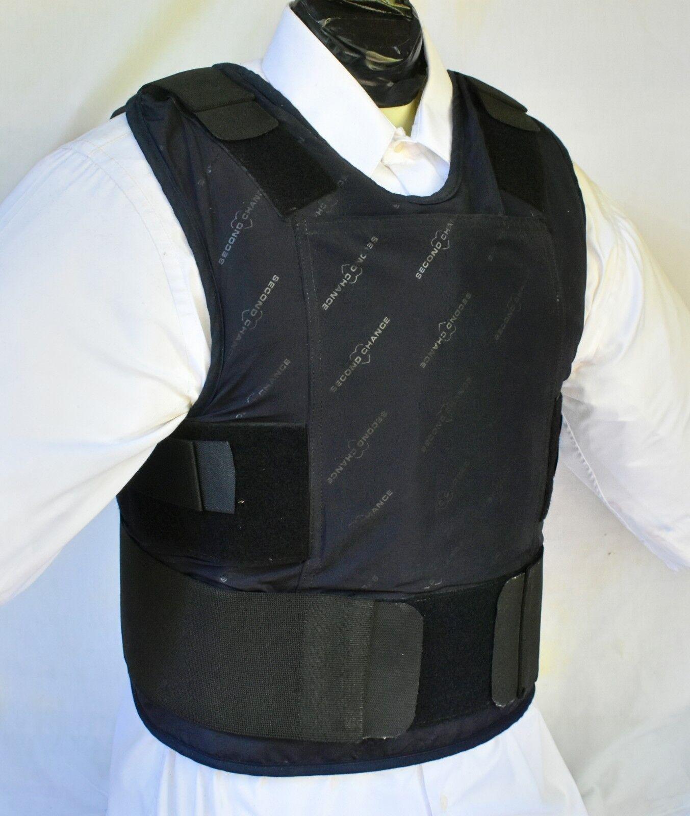 XXL IIIA Lo Vis   Concealable Body Armor Carrier BulletProof Vest with Inserts