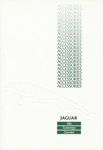 JAGUAR xj6 SOVEREIGN DAIMLER Accessories Accessori PROSPEKT 1986 brochure catalog