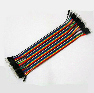 Male to Male 1p-1p 20cm Jumper Ribbon Wire Dupont Cable Kabel Arduino 40Stk