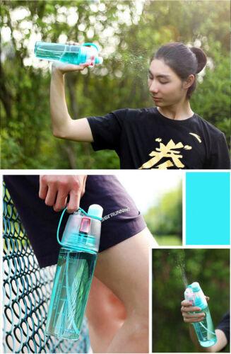 Sport Cycling Mist Spray Water Gym Beach Bottle Leak-proof Drinking Cup