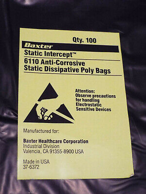 100 STATIC INTERCEPT ANTI-STATIC ANTI-CORROSIVE ESD BAGS 12X18 ELECTRONICS  COINS | eBay