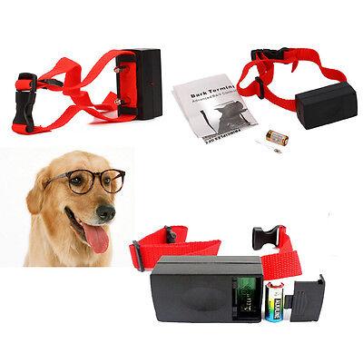 New 3X Home Pet Anti-Bark Dog Training Shock Control No Barking Collar Black