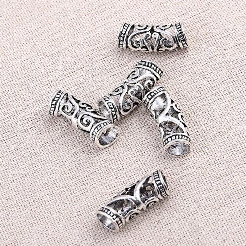 5x Aushöhlen Dreadlock-Perlen Unisex Geschenk Dread Tube Vintage Haarschmuck