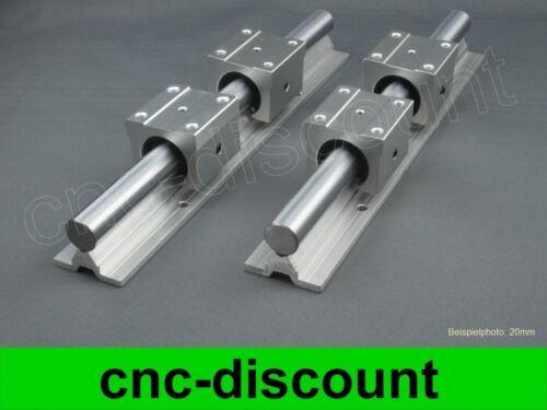 CNC Set 12x 400mm guida LINEARE LINEARI Guide Rail STAGE 3d
