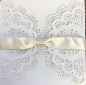 Details About Blank Wedding Engagement Invitations Off White