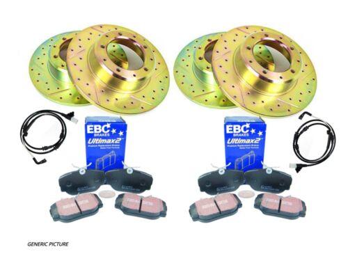 Discovery 1 Avant et Arrière Performance récupération Disques De Frein /& EBC Pads