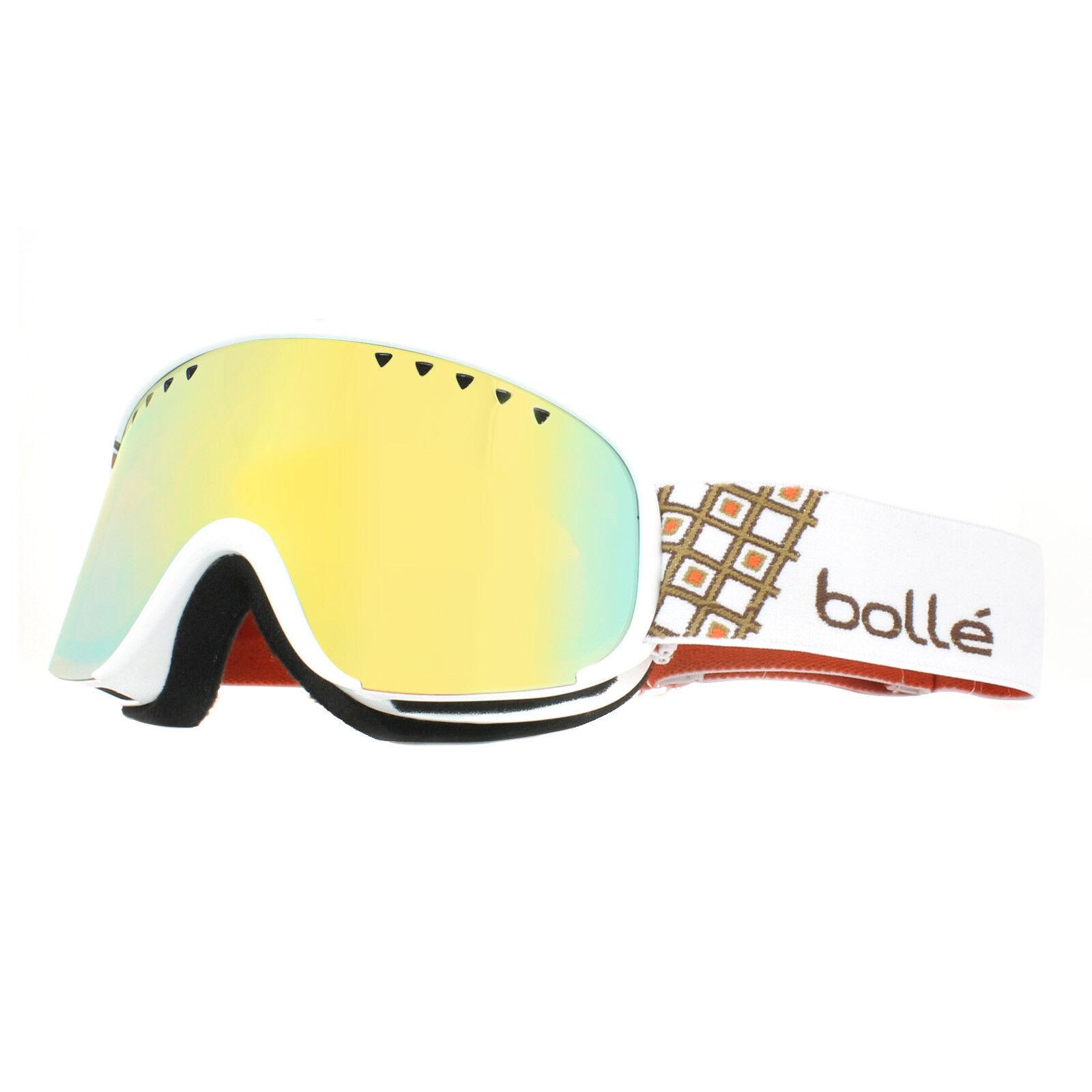 Bolle Ski Goggles Scarlett 21324 Shiny White & gold Citrus gold