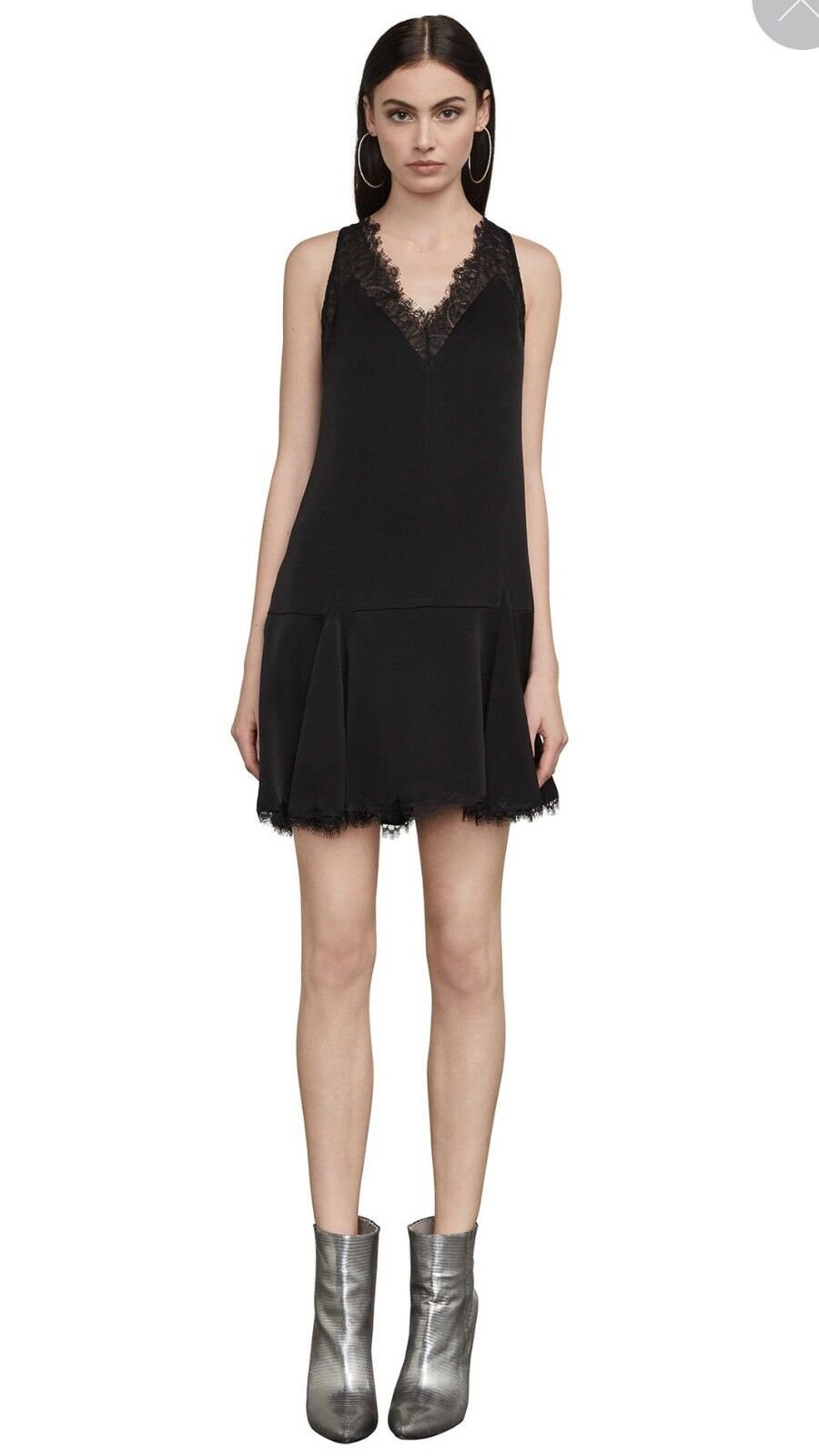 BCBG MAXAZRIA Mamie Lace-Trimmed Mini Dress