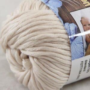 Hot-Sale-1Ball-X-50g-Thick-Chunky-DIY-Worsted-100-Cotton-HAND-Knitting-Yarn-31