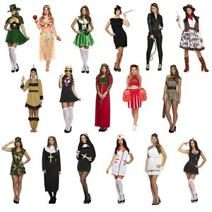 Female-Adult-Fancy-Dress-Up-Outfits-Various-Hen-Party-Party-Outfit-Freshers-NEW