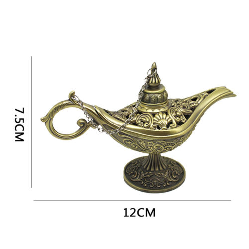 ALADDIN LAMP HOLLOW WISHING LAMP ANTIQUE BRONZE OR SILVER BRAND NEW GIFT