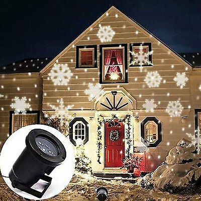 Laser LED Star Snowflake Christmas Home Light Outdoor Decoration Projector White