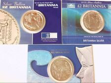 Nice Collection- 2001, 2002, 2003 GB 1 oz Silver Britannia Coins in Presentation