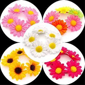 FLOWER-HAIR-SCRUNCHIE-BOBBLE-ELASTIC-HAIR-BAND-GIRLS-WOMENS-BUN-GARLAND-HAIRBAND
