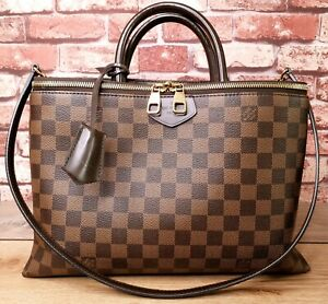 Authentic-Louis-Vuitton-Brompton-Damier-Ebene-Canvas-Two-Way-Bag-with-Dust-Bag