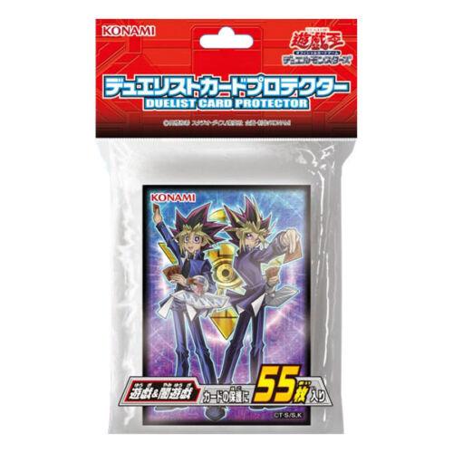 Yugioh Japanese Official Card Sleeves Protector Yugi Muto /& Yami Yugi 55ct