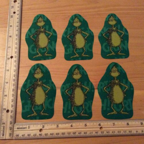 Christmas The Grinch Who Stole Christmas Fabric Iron On Appliques Style#3