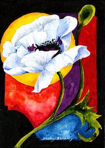 SUN POPPY 8X10 FLOWER print by Artist Sherry Shipley