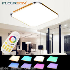Modern 30W LED Ceiling Light RGB Dimming Surface Mount Bedroom LivingRoom Remote