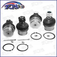 BRAND NEW 4PC UPPER&LOWER BALL JOINTS DANA 44 FRONT AXLE 4X4 DODGE FORD CHEVY