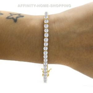 Original Mother's Day 8.50 Ct D/vss1 Round 14k Yellow Gold Over Classic Tennis Bracelet Fine Quality Fine Bracelets