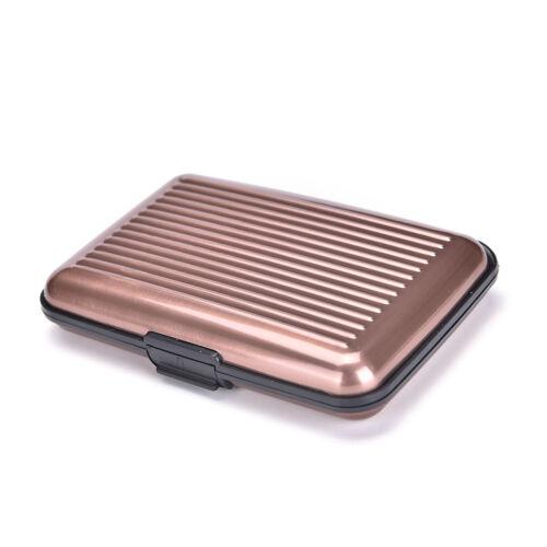 Waterproof Business ID Credit Card Wallet Holder Aluminum Metal Case Box  TK
