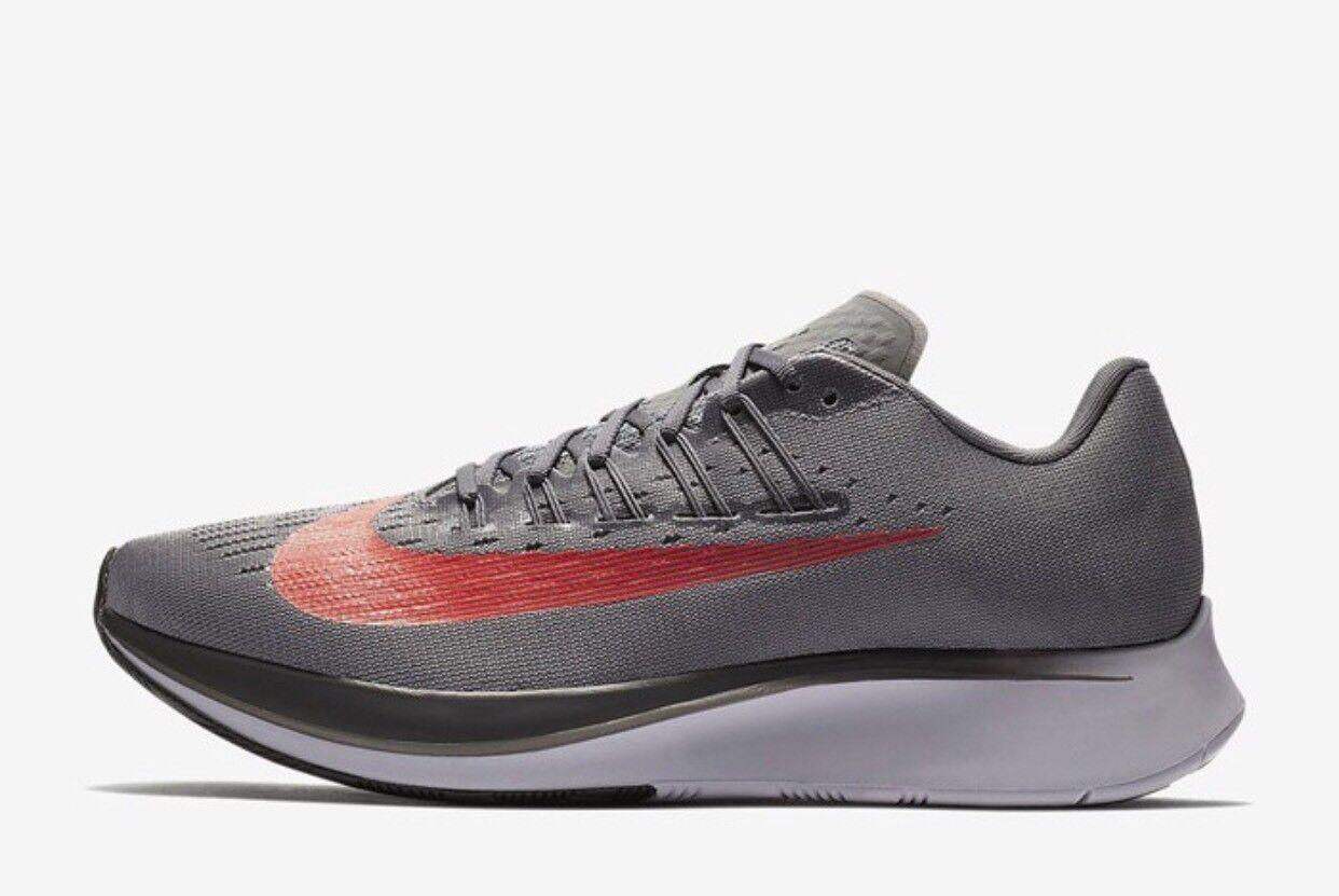 Nike ZOOM FLY Gunsmoke Grey   Crimson Running RRP .99