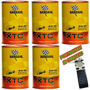 BARDAHL-BARDHAL-XTC-C60-5w40-Olio-Motore-Auto-Fullerene-5-lt-litri-omaggio