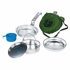 Personal Aluminum MESS KIT Camping Survival Emergency Gear Compact Cookware