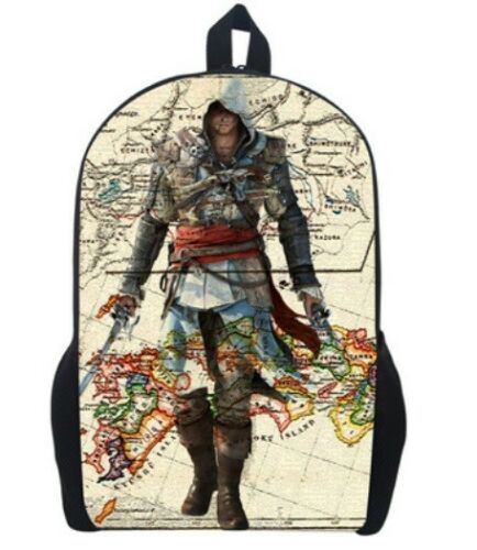Men Daily Bag Rucksack Assassin/'s Creed Backpack School Bags For Boys