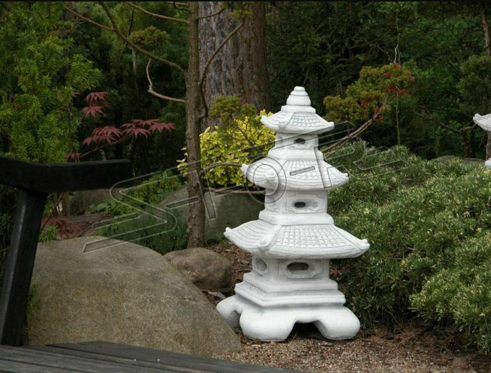 LAMPADE Da Giardino Giapponese Decorazione Illuminazione uccelli della garza scultura s106003