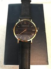 **REDUCED** Larsson & Jennings Lugano 40mm Watch - Black Leather And Gold