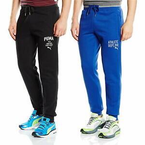 Puma-Athletic-Dept-1948-Bas-Jogging-Homme-Bleu-Noir-Survetement-Pantalon