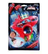 6pc Marvel Comics Spiderman Soft Foam Disc Shooter Blue Blaster