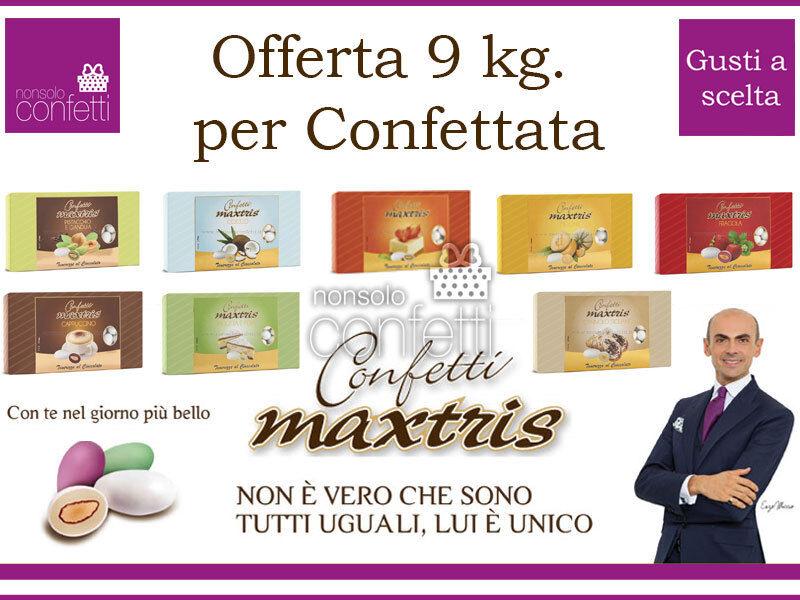 Confetti Maxtris Kit da 9 kg. per Confettata o Bomboniere 9 GUSTI A SCELTA