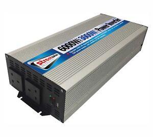 Dc-ac 3000 W Batterie 230 V Alimentation Secteur Onduleur Mobile Fourniture Camping 6000 W Peak-afficher Le Titre D'origine Texture Nette