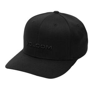 Volcom-034-Euro-Xfit-034-FlexFit-Hat-Black-Men-039-s-Classic-Stretch-Cap