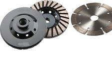 4 Spiral Turbo Diamond Cup Wheel And 5 Stone Concrete Granite Saw Blade Cutter