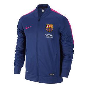 La foto se está cargando Nike-FC-Barcelona-Escuadron-De-punto-Chaqueta-Azul- d13220e4839