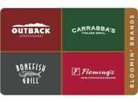 $30 Outback Carrabba's bonefish flemings PDF Certificate Gift Card