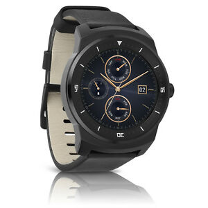 "LG G Watch R W110 Android Wear Leather Smartwatch 1.3"" P ..."