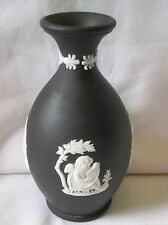 Lovely Wedgwood black jasper ware 4.75 inch high bud vase