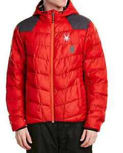 Spyder mens Mens Geared Hoody Synthetic Down Jacket