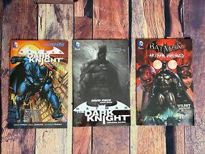 BATMAN Graphic Novel LOT of 3 Arkham Unhinged Knight Terrors Golden Dawn DC