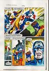 Original 1984 Captain America 296 page 9 Marvel colorist's color guide comic art